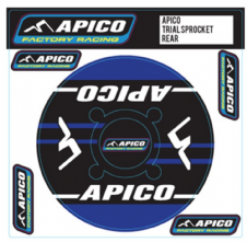 APICO TRIALS REAR SPROCKET STICKER 40T BLUE